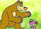 Pinte Masha e o Urso Brincando