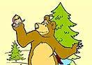 Pinte Masha e o Urso Passeando