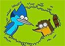 Pinte Mordecai e Rigby de Apenas um Show