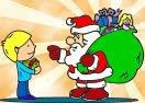 Pinte Papai Noel Conversando