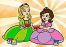 Pinte Sofia e Amber Tomando Chá