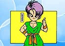 Pinte Trunks de Dragon Ball