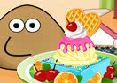 Pou Ice Cream Decorating