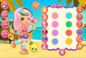 Shopkins: Pineapple Lily Dress Up - screenshot 1