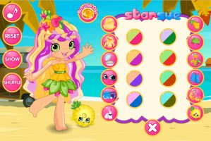 Shopkins: Pineapple Lily Dress Up - screenshot 2