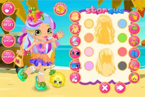 Shopkins: Pineapple Lily Dress Up - screenshot 3